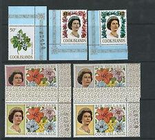 COOK ISLANDS 1967-69 FLOWERS set complete (Scott 199-220) VF MNH