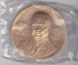 J Edgar Hoover FBI Director BRONZE MEDAL US MINT No 661 Sealed