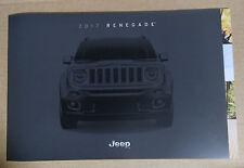2017 Jeep Renegade Original Sales Brochure Catalog NEW