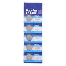 5pcs Cr2025 3v Alkaline Button Battery Cell Coin Batteries for Watch Calculator