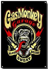 GAS MONKEY GARAGE A4 METAL SIGN, CARS, OIL , ICONIC, TV, AMERICAN, TOOLS, SPEED