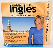 NEW Instant Immersion English Deluxe Edition Audio 16-CD-Rom Ingles Edition v2.0