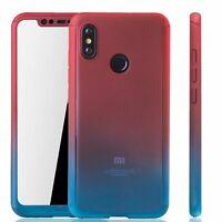 Xiaomi Mi 8 Cellphone Case Protective Full-Cover Curb Glass Red / Blau