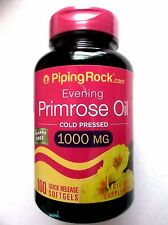 Evening Primrose Oil Cold Pressed 1000Mg Natural Source of GLA 100 Pills Softgel