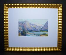 YOSEMITE OIL PAINTING 1915 BY W.F. DABELSTEIN - WPA- PPIE WELL LISTED
