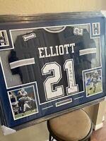 Ezekiel Elliott Authentic Autographed Framed Jersey COA Beckett NFL Cowboys