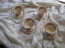 LOVELY 4~CUPS & SAUCERS OLD IVORY SYRACUSE CHINA SHARON PATTERN~