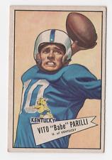 "1952 Bowman Small #44 Vito ""Babe"" Parilli - VG"