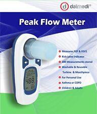 Digital Peak Flow Meter Spirometer PEF & Fev1 Reusable Mouthpiece Asthma COPD
