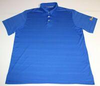 Mens Ashworth Short Sleeve SS Golf Polo Shirt XL X-Large Blue Heathered