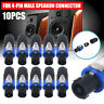 10Pcs NL4FC Pro 4 Pole Male Speakon Connector Adapter Speaker Audio Cable Plug