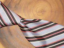 Robert Talbott Best of Class Blue Black Regimental Repp Twill Striped Silk Tie