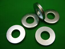 Extra thick flat spacer washers, steel, M16, 6mm thick, pack of 5, zinc plated