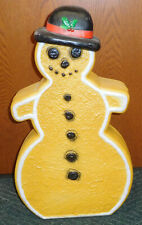 UNION CHRISTMAS GINGERBREAD SNOWMAN BLOW MOLD OUTDOOR DECORATION FEATHERSTONE