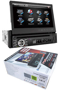 "7"" Flip Out Bluetooth Radio CD/DVD MP3 USB Single Din Touch Screen PTID-8920B"