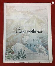 Eugene Grasset Cover Art Enchantement Sheet Music Massenet 1890s Art Nouveau