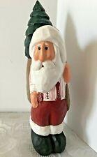 Vtg Eddie Walker Santa Figurine Suspenders Striped Shirt Midwest Falls Christmas