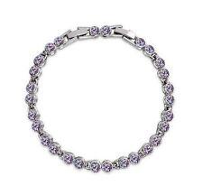 Modeschmuck-Armbänder im Tennis-Stil mit Amethyst-Hauptstein für Damen
