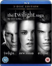 Twilight Saga Blu Ray Triple Pack Part 1 2 3 Kristen Stewart, Robert NEW UK