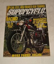 August 1972 SUPERCYCLE MOTORCYCLE CYCLE MAGAZINE 650 YAMAHA DAYTONA BSA JAWA