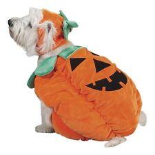 Zack & Zoey Pumpkin Pooch Dog Costume Cap Halloween Plush Hook/Loop Chin Strap