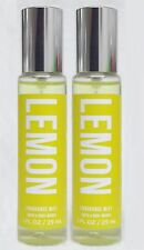 2 Bath & Body Works LEMON Fragrance Mist Spray 1 fl oz RARE HTF