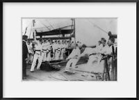 ca. 1895 photograph of Gun drill on U.S.S. WYOMING, U.S. Naval Academy