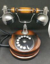 Téléphone Vintage À Cadran En Bois Cevam