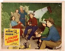 ROY ROGERS AND TRIGGER THE GOLDEN STALLION 1944 ORIG 11x14 LOBBY CARD  #1369