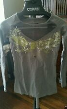 Top Gun knit top, long sleeved, v-neck size xs