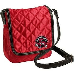 Toronto Raptors NBA Licensed Red Quilted Purse Handbag