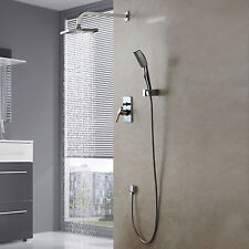 "Modern NEW Wall Mounted Shower Set Faucet 8"" Rain Shower Head Handheld Shower"