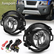 for 05-14 Nissan Xterra 10-17 Frontier Clear Fog Light Lamps Plastic Bumper Only