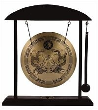 (1) ORIENTAL ASIAN ~ DRAGON ~ FENG SHUI DESKTOP GONG Sm