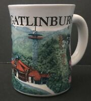 3D Gatlinburg Tennessee Coffee Mug Cup Southern Town Great Smoky Mountains