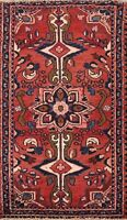 Antique Lilihan Geometric Hand-knotted Area Rug Wool Oriental 3x4 Foyer Carpet