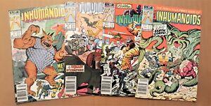 Inhumanoids #1-4 complete 1987 Marvel/Star series toy/cartoon tie-in