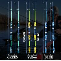 Carbon Fiber Lure Fishing Rod Spinning Casting Hand Pole Ultralight Carp Gear US