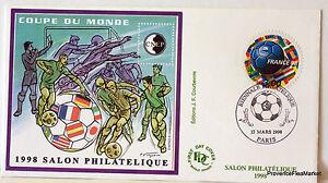 France Bloc Sheet CNEP On Letter Coupe Du Monde Soccer N° 26 FDC