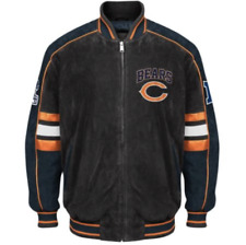 Chicago BEARS Officially Licensed NFL Varsity Suede Leather Jacket ~ LARGE