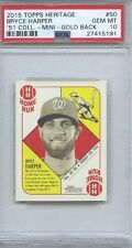 BRYCE HARPER GOLD 51 COLLECTION 2015 HERITAGE PSA 10 GEM MINT