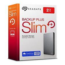 "Seagate Backup Plus Slim STSTDR2000201 HDD Esterno 2.5"", 2TB, USB 3.0, Argento"
