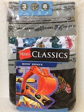 Boy's Briefs Under Construction prints Hanes Classic Pack of 3 Size 6