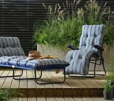 2xTimz Sun lounger Striped Folding Recliner Cushioned Lounge Garden Chair Bath.