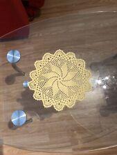27cm Yellow Round Cotton Crochet Doily