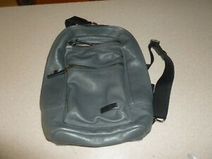 """Tumi Gray Leather Sling Slingback Backpack Hobo Satchel Bag 14x10x4"""" EXCELLENT"""