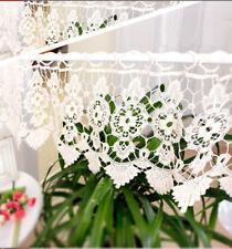 Gorgeous Flower Wide Chemical Lace Ivory Café Door Curtain 30cm Drop Per Meter