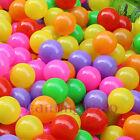 100PCS Soft Plastic Pit Ocean Balls Mixed 7 Colors Play Tent Tunnel  Dia 5.5cm