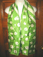 "Vintage Lilly D'Or Logo Spring Green 58""Long Print Scarf, Nos, Never worn!"