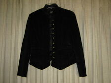 Black Conduroy Military Design Jacket, L